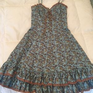 Paisley Betsy Johnson fit and flair dress size 4